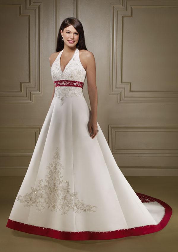 29599ecffcd5 abito da sposa accento di colore rosso
